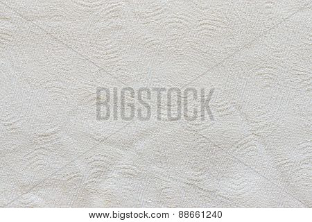 Woven Fabric Of White Color