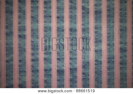 Vertical Texture Of Striped Fabric