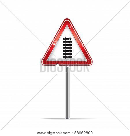 The Train Way Trafic Sign