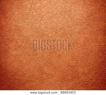 Atomic tangerine leather texture background