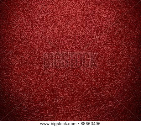 Auburn leather texture background