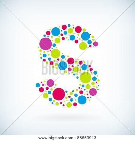 Modern Letter S Circle Symbol Icon