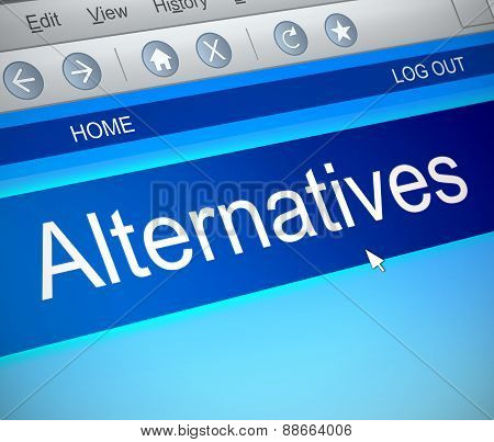 Alternatives Concept.