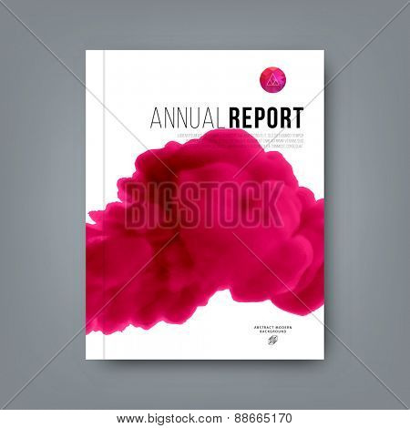 Abstract Vector Color Cloud Background. Paint Fluid. Colorful Smoke. Isolated Ink in Water. Liquid Ink or Paint for Banners, Cards, Posters, Annual Reports and Placards Designs. Vector Template.