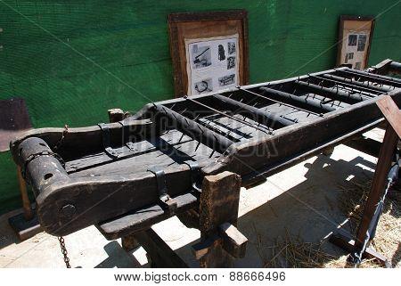 Medieval torture rack, Spain.