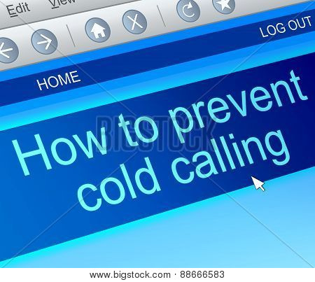 Cold Calling Concept.