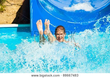 Man At Water Park