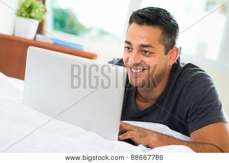Watching Something On Laptop