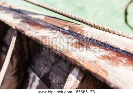Wooden Boat Detail