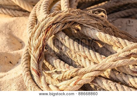 Old Coiled Rope