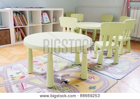 Living room in kindergarten