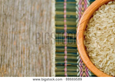 Isolated Bowl With Brown Rice