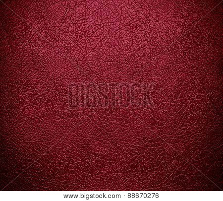 Big dip o ruby color leather texture background