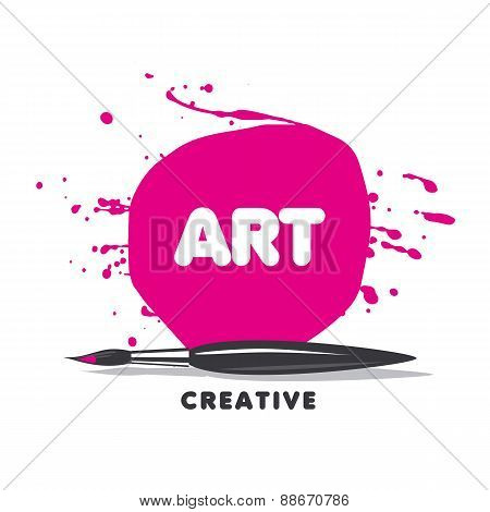 Vector Logo Brush, Paint And Spray