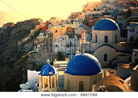 Greek Sunset On Santorini