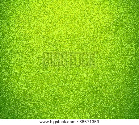 Bitter lime color leather texture background