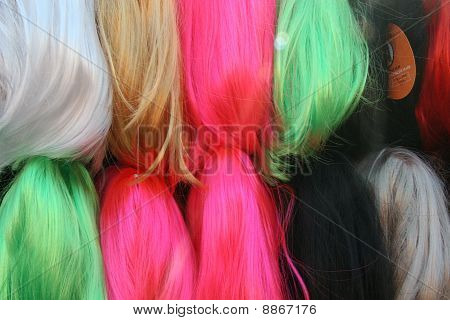Stacks Of Colored Hair