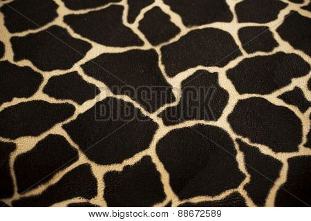 Giraffe reticulated textile background and texture.