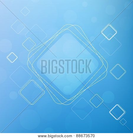 Background With Squares. Abstract Vector Illustration