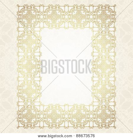 Vintage gold frame with floral motifs.