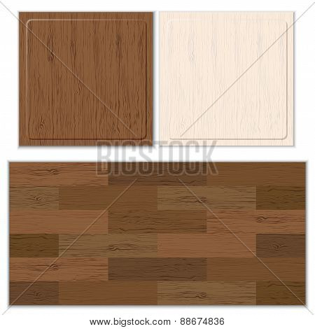 Set of wood lines pattern. Vector illustration