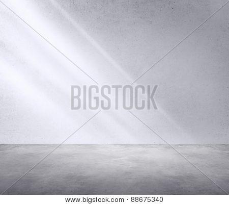 Concrete Room Corner Shadow Sunlight Wallpaper Concept