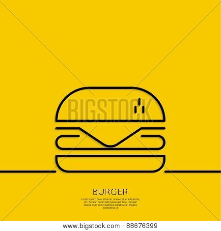 Hamburger icon on a yellow background.