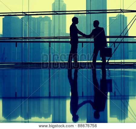 Business Handshake Agreement Partnership Corporate Concept