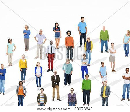 Diverse Large Group Of People Multiethnic Group Community