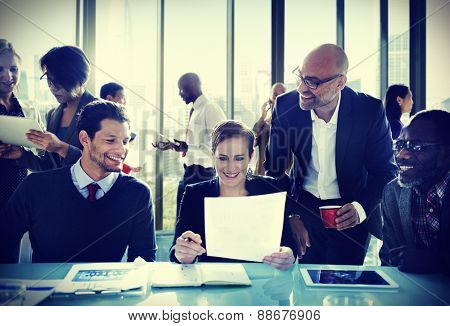 Business People Communication Discussion Office Working Concept