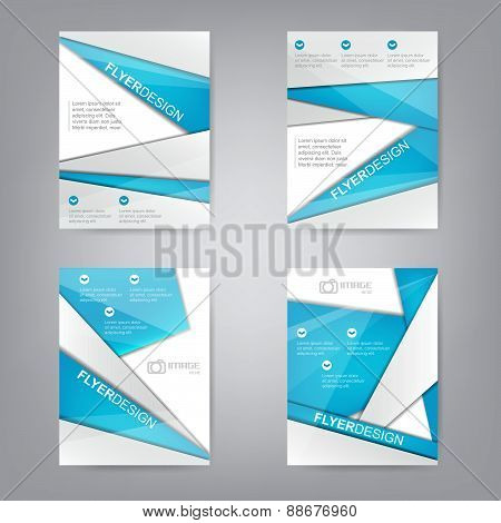 Set of business flyer template or corporate banner