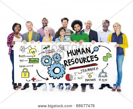 Human Resources Employment Job Teamwork People Banner Concept