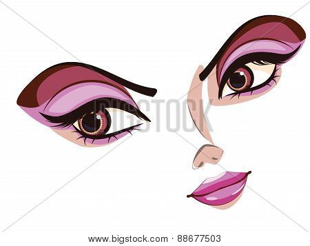 Stylized Female Face