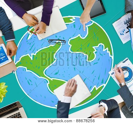 Global Networking Communication Economy Worldwide Concept