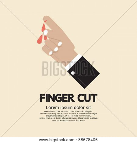 Fingers Cut With Knife.