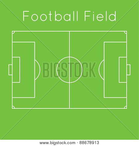 Green football field.