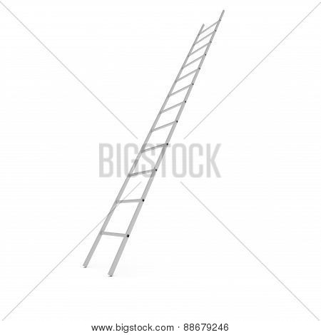 Metal Ladder Isolated On White Background, 3D