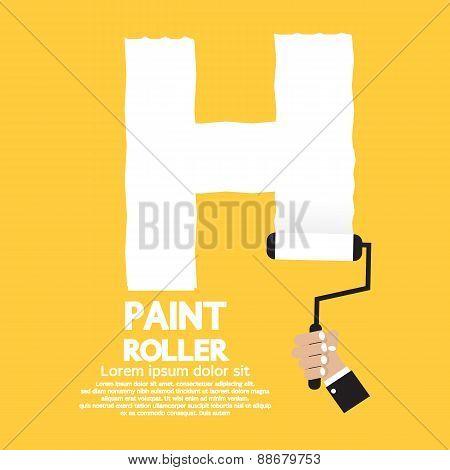 Paint Roller Alphabet H.