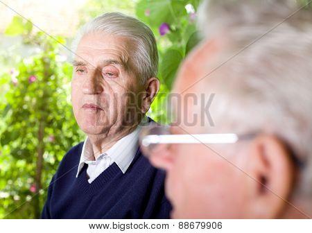 Senior Citizens Chatting
