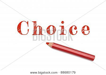 Choice Lined Written Red Pencil