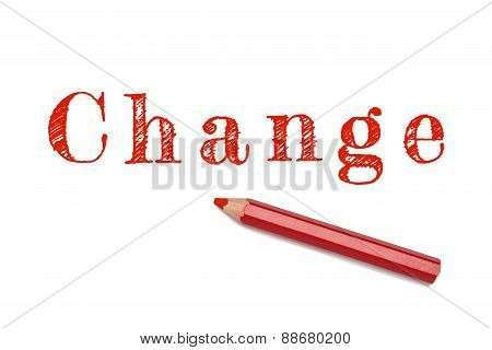Change Sketch Red Pencil