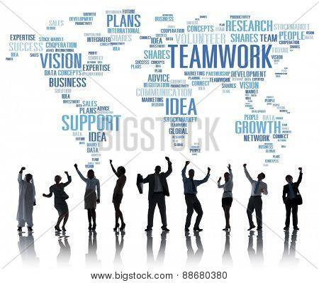 Global Business People Celebration Success Teamwork Concept