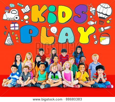 Kids Play Imagination Hobbies Leisure Games Concept