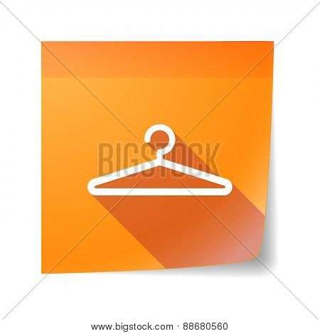 Sticky Note Icon With A Hanger