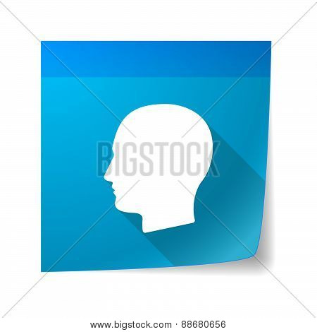 Sticky Note Icon With A Male Head