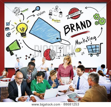 Brand Marketing Identity Strategy Concept