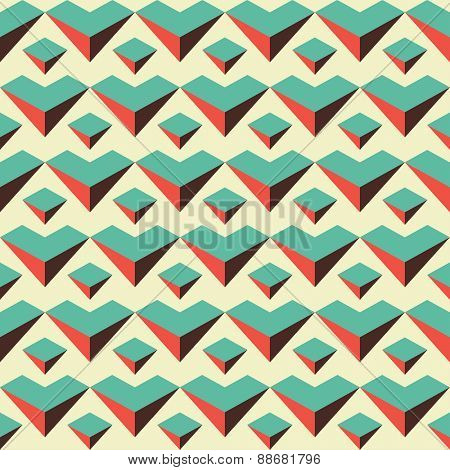 Abstract Retro Color Seamless Pattern