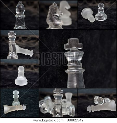 Chess pieces, collage