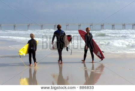 Family Of Surfers