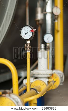 Manometer On The Gas Pipeline Pipeline.